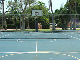 Basketball/Tennis Courts at Broome Camp School