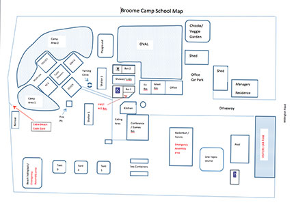 Broome Camp School Map